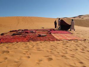 installation-tapis-yoga-désert-qigong-retraite-bien-être